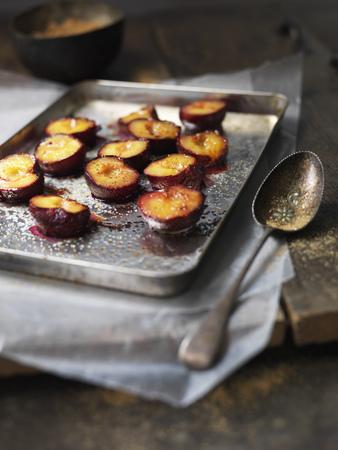 Tray of baked fruit