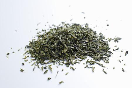 sencha: Close up of pile of tea leaves LANG_EVOIMAGES