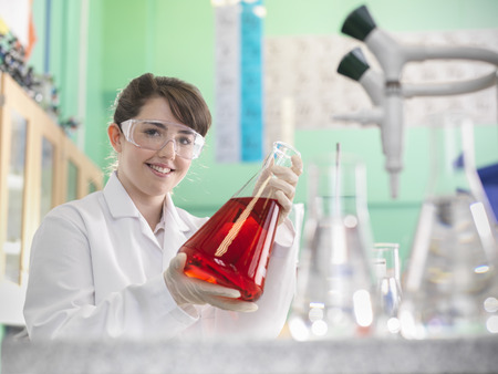 Chemistry student working in lab
