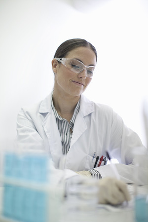 notations: Scientist working in lab