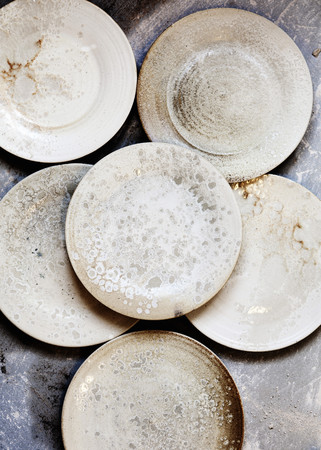 exceptionally: Pile of handcrafted ceramics in shop LANG_EVOIMAGES