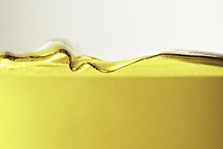 Close up of oil in glass