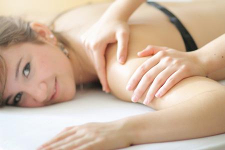 Close up of woman having massage