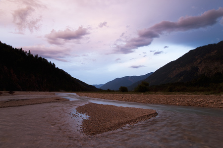 stormy waters: River running through mountain valley
