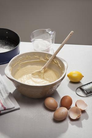 stirred: Eggshells,flour,lemon and batter