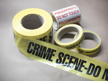 cautions: Close up of crime scene tape