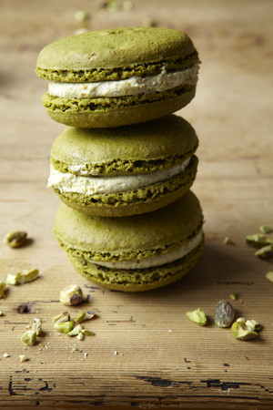 furniture part: Stack of macaroons on table