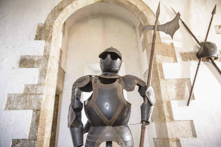 histories: Suit of armor wearing sunglasses