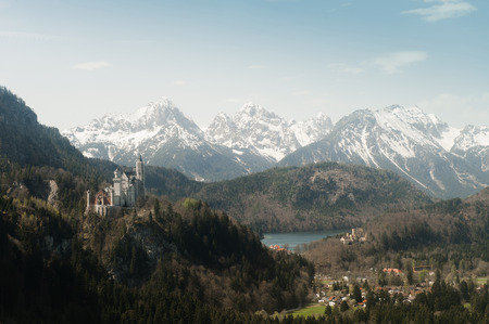the magnificent: German Alps overlooking rural landscape LANG_EVOIMAGES