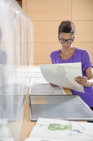studied: Businesswoman working in office