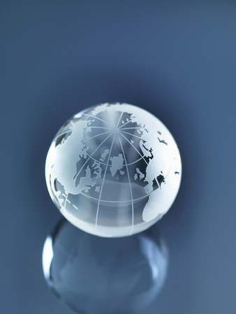 Glass Globe illustrating North America,Europe,Russia and Africa LANG_EVOIMAGES