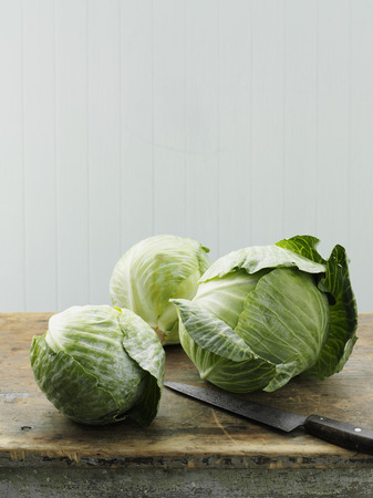 worktops: Asian cabbage on cutting board