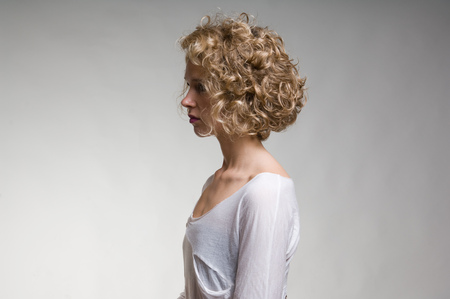 posed: Profile of womans face