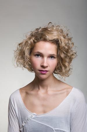 Beauty portrait of a blonde woman