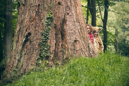 dressups: Children playing together in forest
