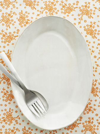 Empty plate with spoon and fork LANG_EVOIMAGES