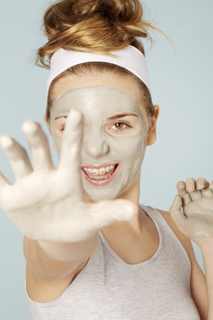 whimsy: Smiling girl wearing face mask LANG_EVOIMAGES