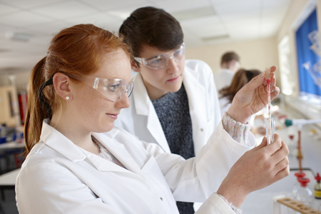 additional chemicals: Students working in chemistry lab LANG_EVOIMAGES