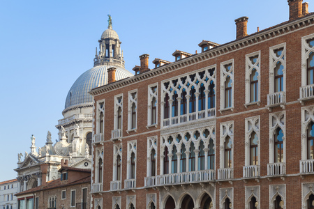 histories: Ornate buildings and blue sky