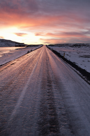 snowed: Frozen road in snowy landscape LANG_EVOIMAGES