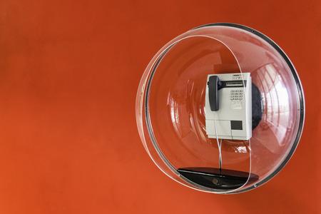 Telephone in decorative plastic bubble