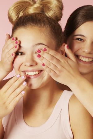 interrogations: Teenage girls playing together