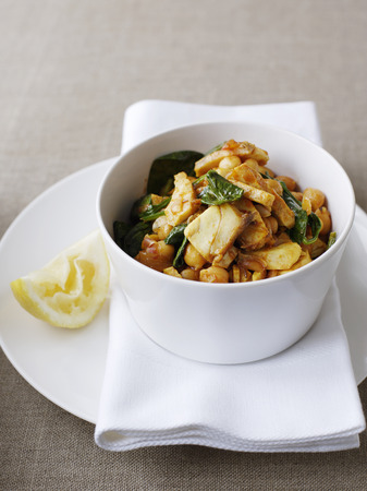 egglayer: Bowl of stewed meat with herbs