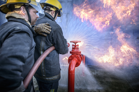 struggled: Firefighters in simulation training