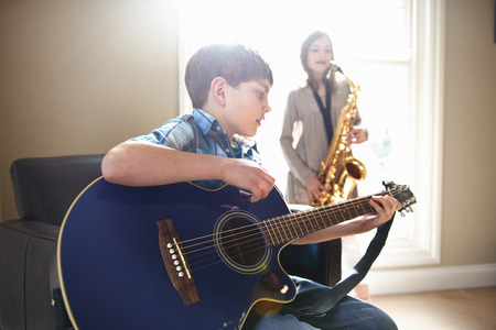 rehearsal: Children playing music together