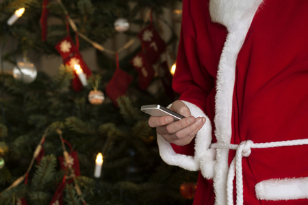 dressups: Santa Claus using cell phone