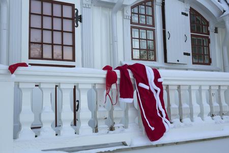 dressups: Santa robe and lingerie on balcony LANG_EVOIMAGES