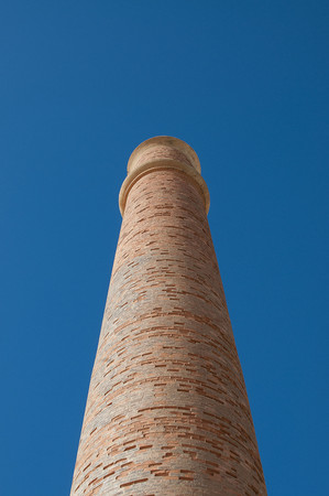 deteriorated: Low angle view of smokestack
