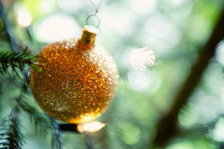 Close up of Christmas ornament