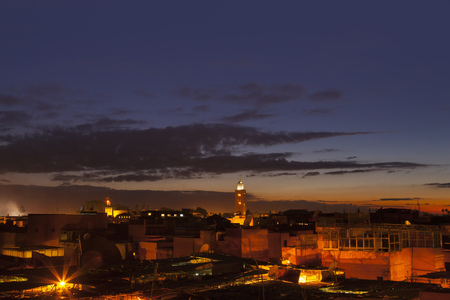 Aerial view of clouds over Marrakesh LANG_EVOIMAGES