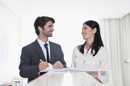 worktops: Business people smiling together