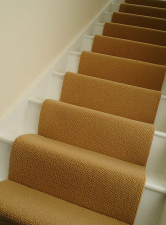 coverings: Carpet on stairs