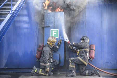 fireman: Firefighters in simulation training