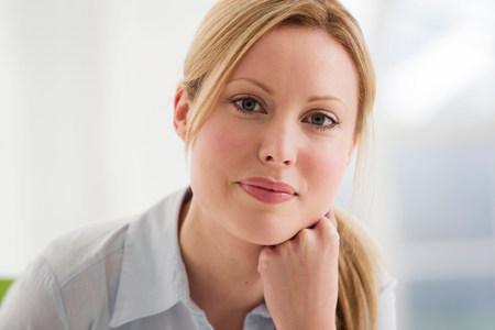 authoritative woman: Portrait of blonde businesswoman