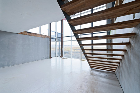 northern european: Modern house under construction LANG_EVOIMAGES