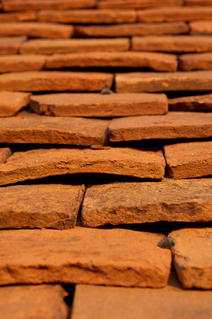 reminisce: Close up of roof tiles