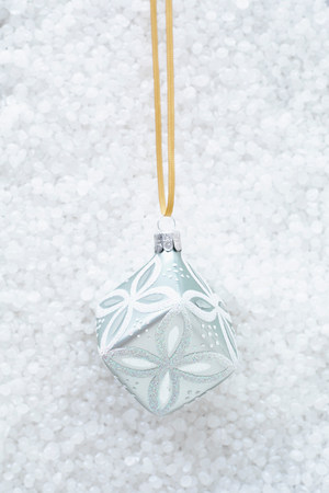 wintry weather: White cube shaped christmas decoration LANG_EVOIMAGES