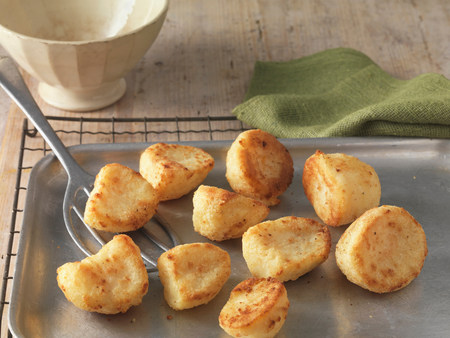 flavouring: Roast potatoes on baking tray and wire rack