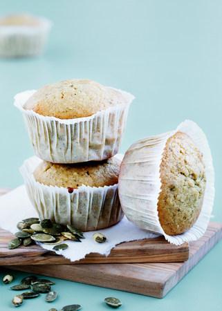 Bran muffins with pumpkin seeds