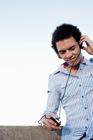 chillout: Young man listening to music