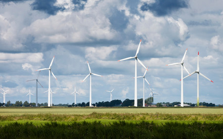 environmentalism: Windfarm in field LANG_EVOIMAGES