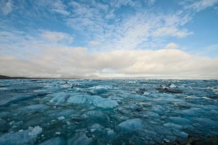frozen lake: Glacier lake,Jokulsa Loni,Iceland LANG_EVOIMAGES