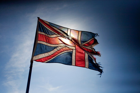 jacks: Torn Union Jack flag flying LANG_EVOIMAGES