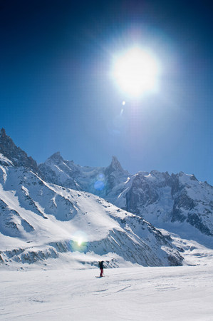 La Vallee Blanche,Chamonix,France,on sunny day