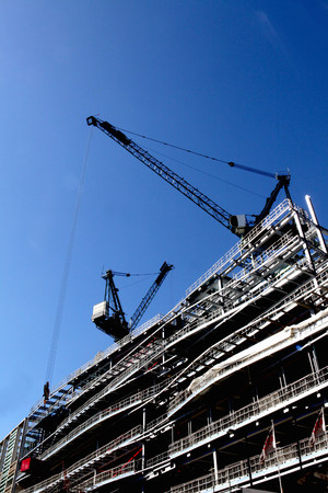 housebuilding: Buildings under construction in London,England LANG_EVOIMAGES