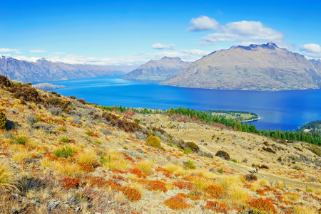 Lake Wakatipu and Remarkables Mountain Range,Queenstown,South Island,New Zealand